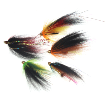 10 PCS 5 Color Salmon Trout Conehead Tube Flies Steelhead Fly Fishing Bait image