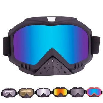 Riding Goggles Windproof UV-proof Breathable Glasses Adjustable Strap Sandproof Goggles Eyes Comfortable For Skiiing Cycling image