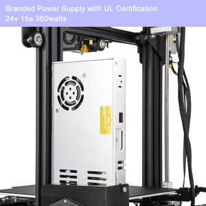 Image 3 - CREALITY 3D Printer Ender 3 PRO Upgraded Magetic Build Plate Resume Power Failure Printing Masks KIT MeanWell Power Supply
