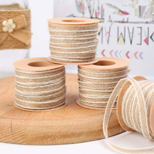 2 Rolls Of Jute Tied Up For Wedding Decoration 0.5cm×10m See Picture Decoration Party Crafts Christmas Gift Packaging #50g