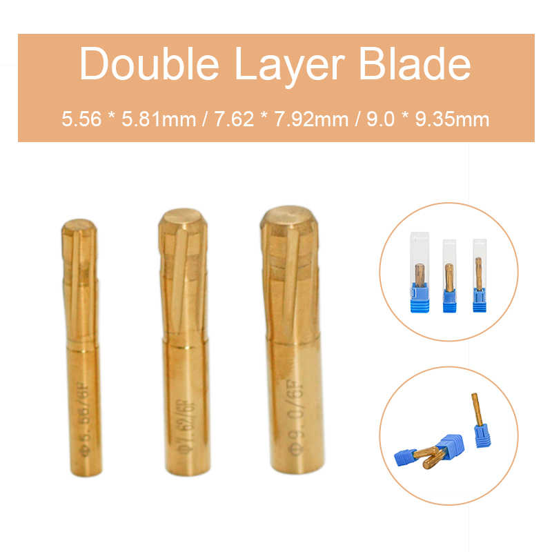 6 Grooves Double Layer Blade Push Rifling Button Chamber Helical Reamer Tool e