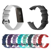For Fitbit Charge3 Replacement Wrist Strap Silicone Watchband for Charge 3 Smart Band Watch