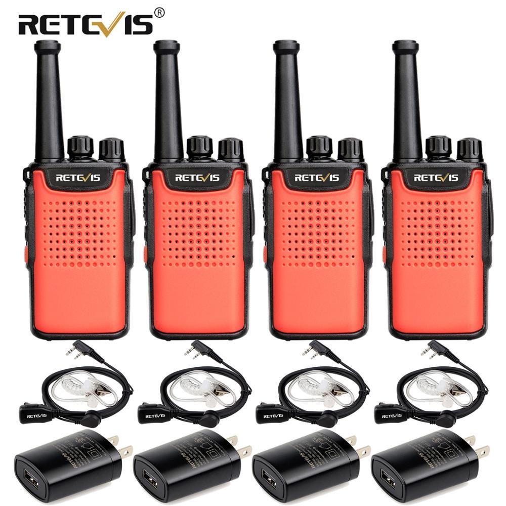 Retevis RT667/RT67 Walkie Talkie 4pcs PMR Radio PMR 446 VOX Non-magnetic Speaker 3000mAh Two Way Radio Comunicador Walkie-Talkie