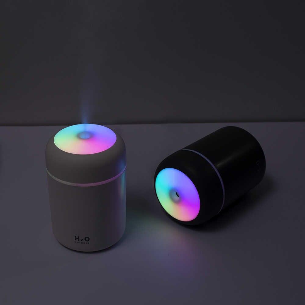 Портативный 300 мл увлажнитель USB ультразвуковой ослепляющий аромадиффузор Холодный Туман чайник увлажнитель воздуха очиститель с романтическим светильник