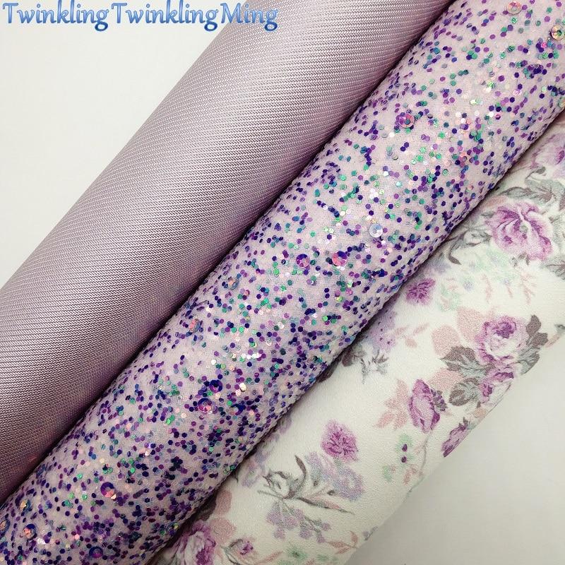 Блестки разных цветов ткани, с цветочным принтом из искусственной кожи листы для банты A4 21x29 см мерцание Ming XM954