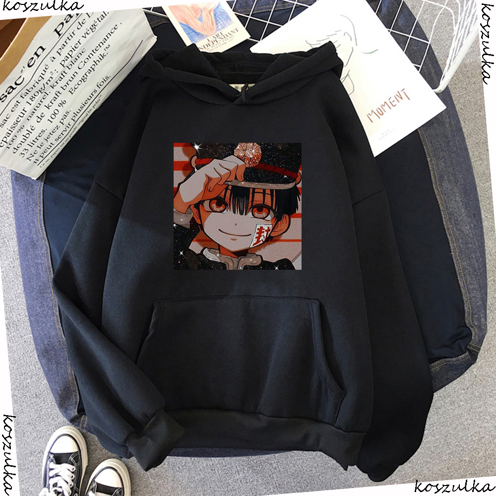 Jibaku Shounen Hanako kun Harajuku Womens Hoodie Fashion Fleece Hoodies Casual Clothes Street Loose Female Sweatshirt 10