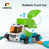 Camión de basura de Control remoto para niños, camión de basura para desmontaje de coches de Control remoto, juego de ensamblaje para niños