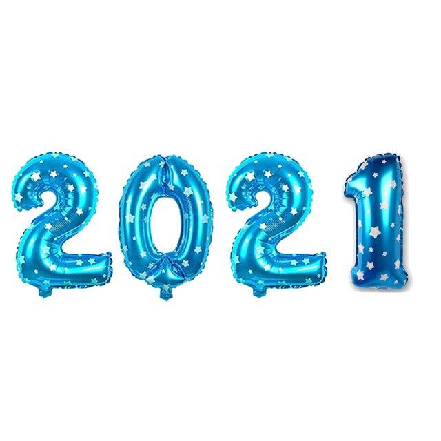 Купить 2021 набор фольгированных шаров с цифрами гелиевые шары новогодние картинки цена