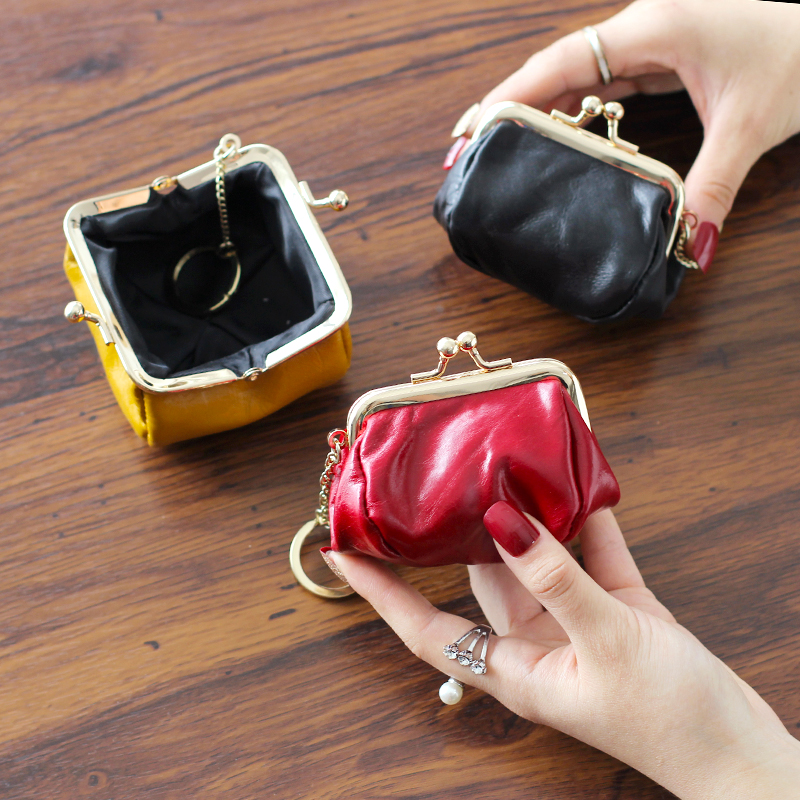 Mini Women's Wallet Simple Coin Purse Stylish Small Genuine Leather Wallet Elegant Portable Zipper Wallet Women Wallets