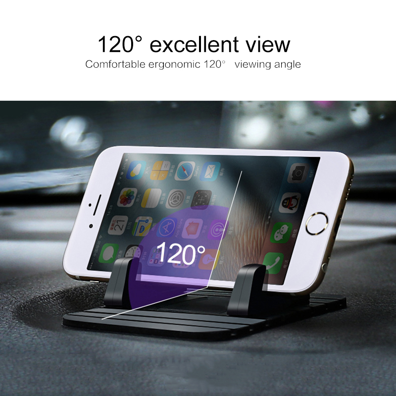 2019 Newest Universal Car Phone Holder Cell Mobile Phone Desktop Stand For Xiaomi Antiskid Soft Silicone Holder For Phone In C