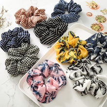 Girl Vintage Lattice Hair Scrunchie Long Ponytail Holder Soft Hair Ties Elastic Hair Bands Women Hair Ring Rope Hair Accessories(China)