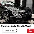 Высококачественная автомобильная пленка матовая металлическая Черная Виниловая упаковка для автомобиля 5 м/10 м/18 м низкая Начальная клейка...