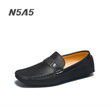 N5A5 Loafers Shoes Men Fashion Shoes Men 2021 Autumn Comfy Slip-on Men's Moccasins Male Footwear Brand Leather Men Casual Shoes