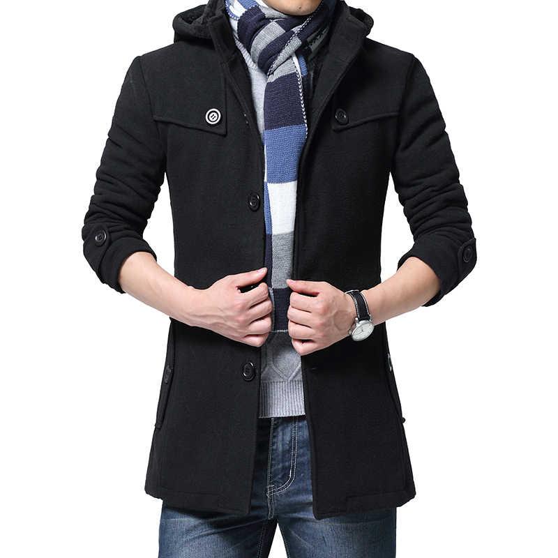 2019 Wol Coatl Pria Musim Dingin Jaket Tebal Tebal Kasual Lebih Tahan Dr Jaket Beludru Hangat Mantel Kualitas Tinggi Berkerudung Ukuran 6XL