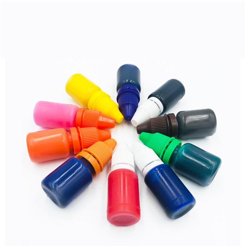 10ml 5ml Self-inking Colorful Ink for Photosensitive Flash Stamp DIY Inkpad Refilling Stamp Ink Oil for Make Seal Black Red Blue