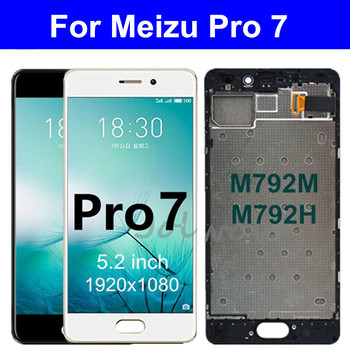 цена на 5.2 For Meizu Pro 7 Lcd Display Touch Screen Digitizer Assembly with Frame For Meizu Pro7 Display M792M M792H