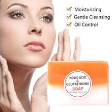 Глубокое черное очищающее осветляющее мыло для тела Qu's мыло для ванны глицериновая кислота осветляющее B1W2