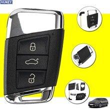 3 botones inteligente carcasa de llave a distancia de coche caso insertar hoja para VW Passat B8 Tiguan MK2 Arteon Altas Skoda Kodiaq Superb A7 variante