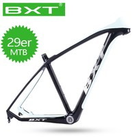 BXT 29er Carbon MTB bike frame BSA 15.5/17.5/19/20.5 inch Frame 142*12mm thru axle 135*9mm quick release Mountain Bicycle Frame