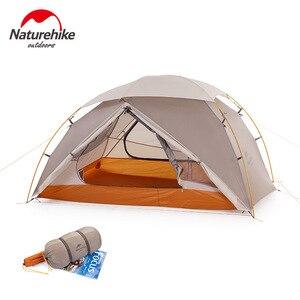 Image 3 - Naturehike 2019 sürümü bulutsusu 2 çadır Ultra hafif çift yerleşik çadır kamp rüzgar yağmur soğuk ve Blizzard vahşi kamp çadırı