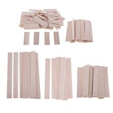 Madeira de balsa inacabada varas de madeira passador diy modelo tiras de artesanato diy carpintaria suprimentos