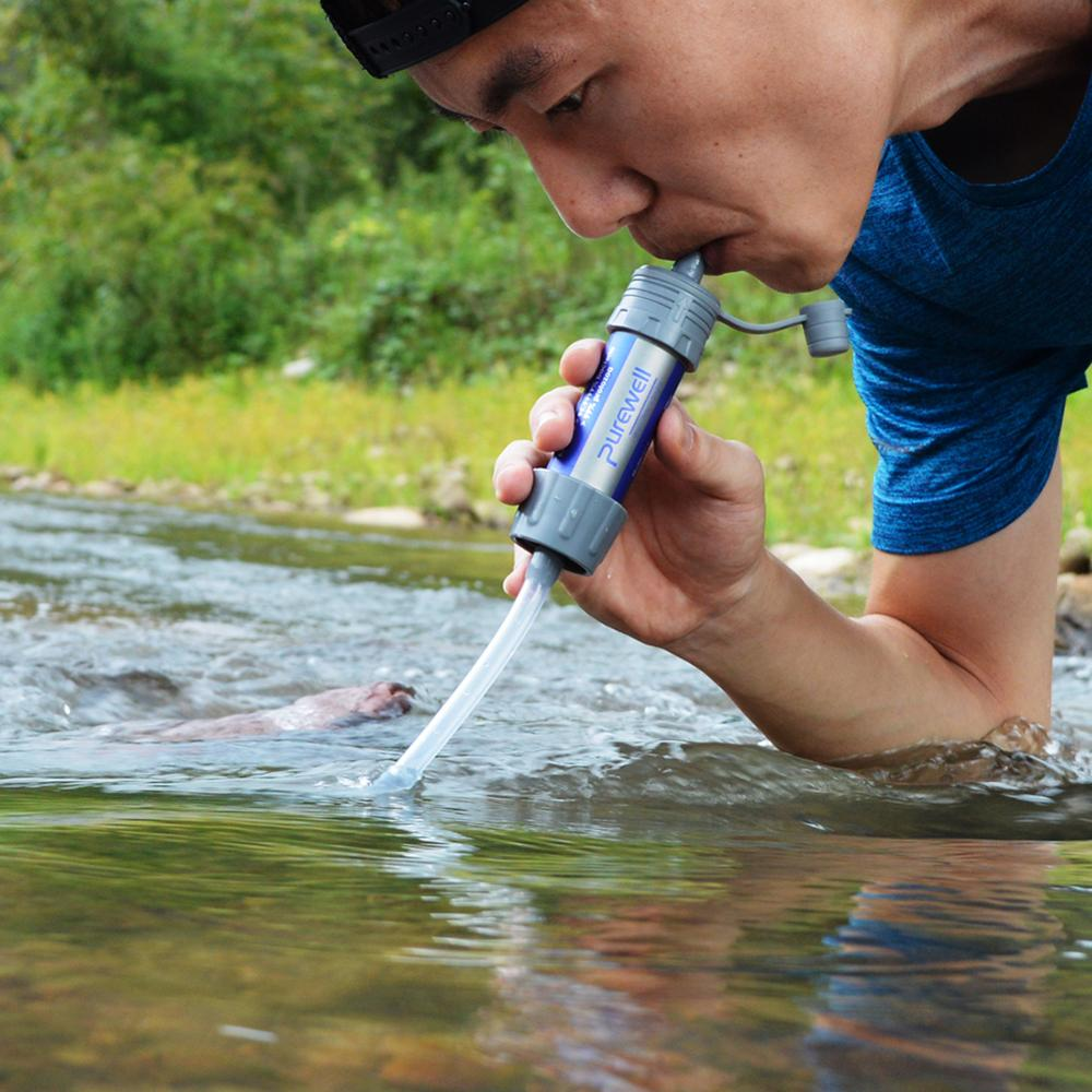 Mini Outdoor Water Purifier Camping Hiking Emergency Life Survival Portable Purifier Drinking Water Filter Home Kitchen Safety