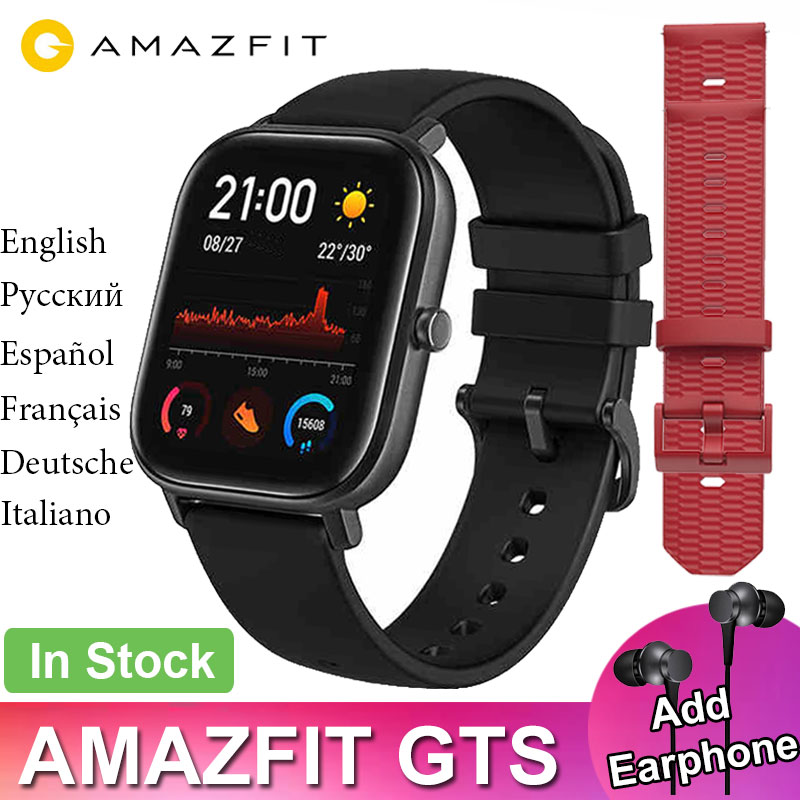 Global Version Amazfit GTS Smart Watch Huami GPS Professional Waterproof Smartwatch 12 Sport Modes Heart Rate Android iOS|Smart Watches| |  - title=