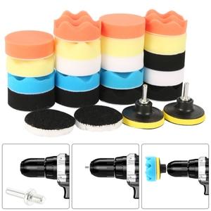 Image 5 - Kit de tampons de polissage pour perceuse, 12 pièces de 3 pouces, éponge de polissage pour voiture, bateau, polisseuse de roue, élimine les rayures