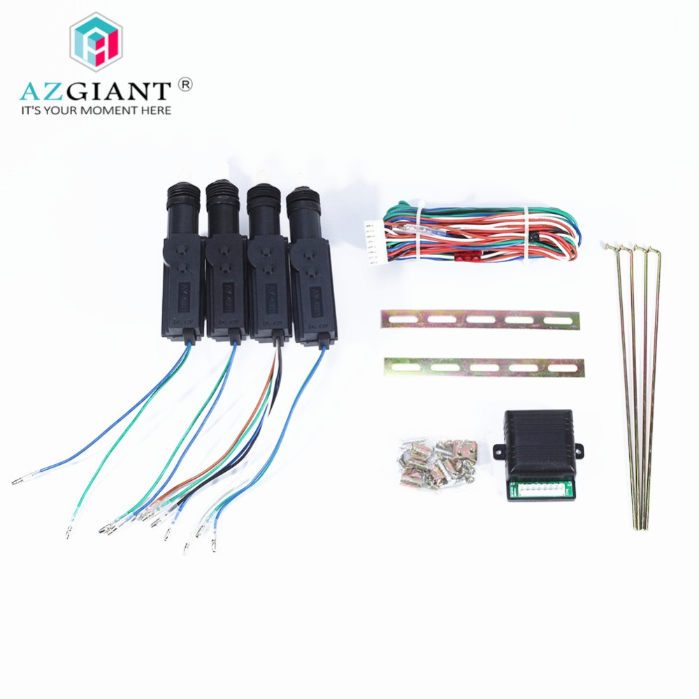 AZGIANT DC 12V 4pcs/lot 2 Wire Door Motor Actuator Solenoid Central locking motor Car Alarm System Central Locking Tools