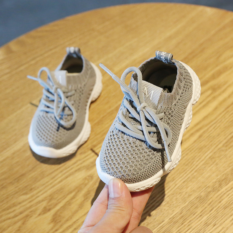 Children Knitting Air Mesh Sports Babyshower Gift Toddler Baby Girls Boys Casual Shoes First Walkers Tennis Sneakers Kidsshoe