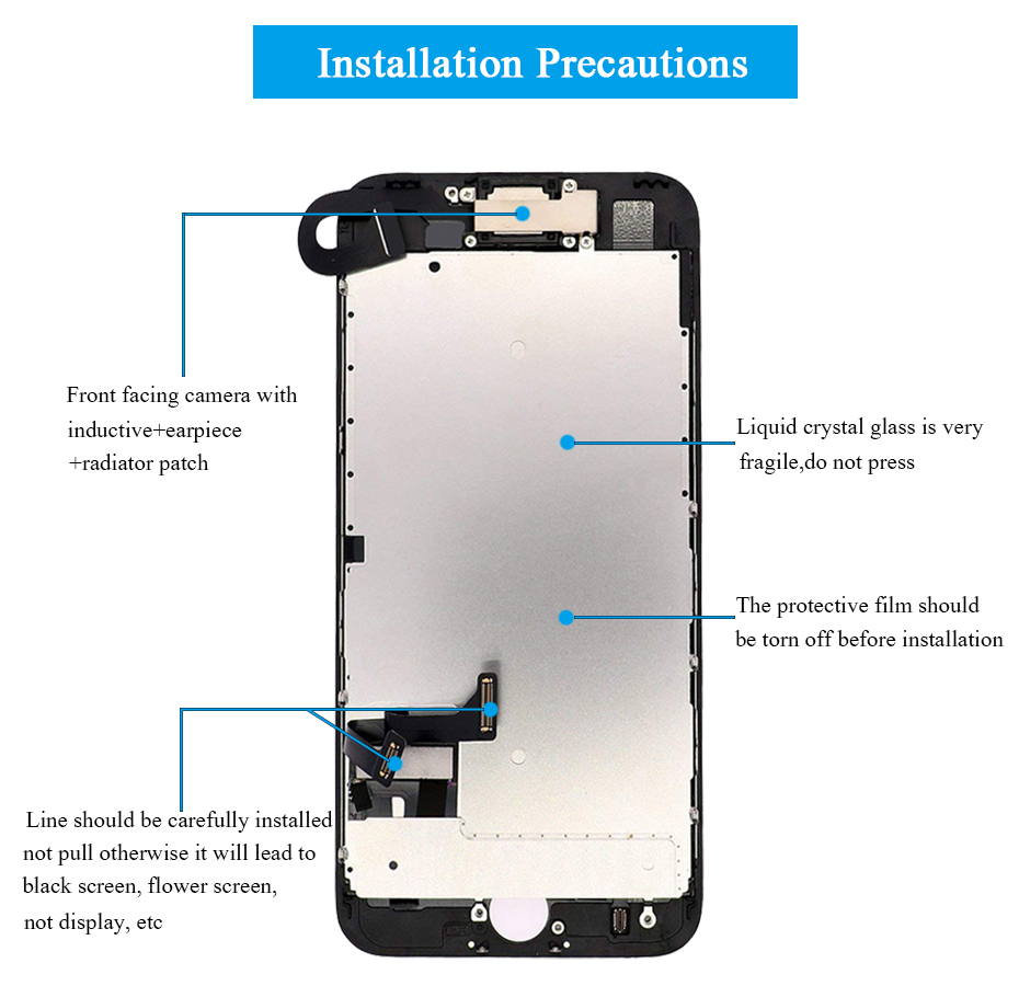 H48d747ebf6cc436daabc67ed0d0f2ae75 For iPhone 7/7 Plus LCD Full Assembly Complete AAA+ LCD  With 3D Touch Screen Replacement Display for iphone 7/7Plus LCD Camera