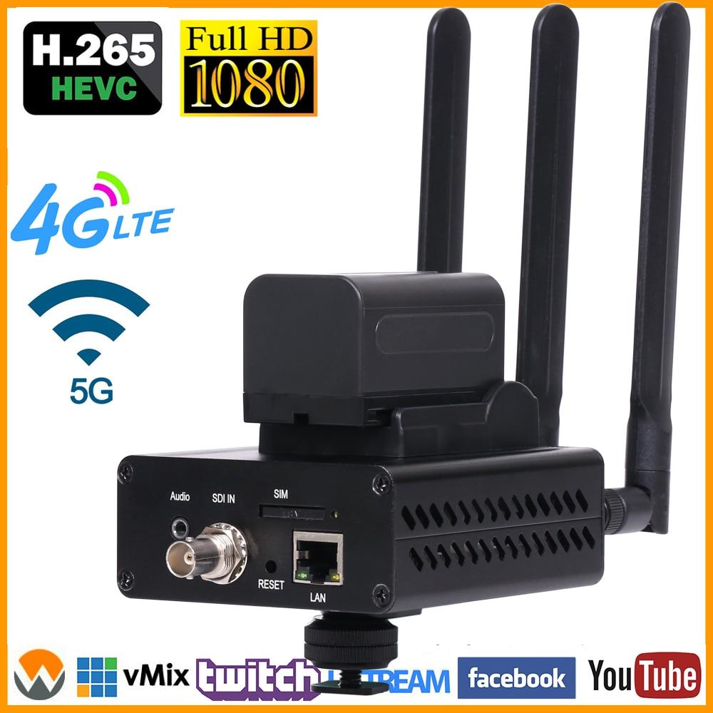 H.265/HEVC H.264/AVC SDI wifi кодировщик поддержка HD-SDI 3G-SDI поддержка RTMP для прямой трансляции, как Wowza, FMS, Youtube, Facebook - Цвет: 4G