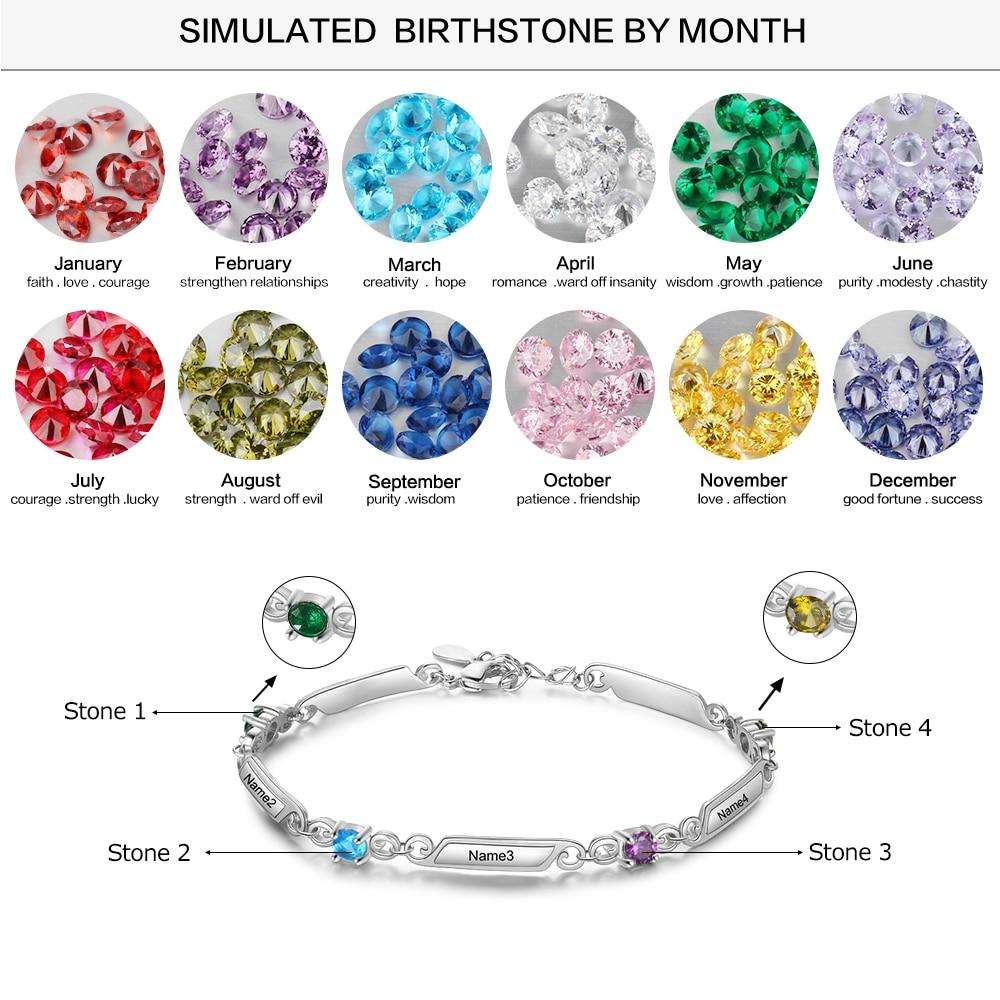 Silver Color Copper Bracelet Custom Name - 1MRK.COM