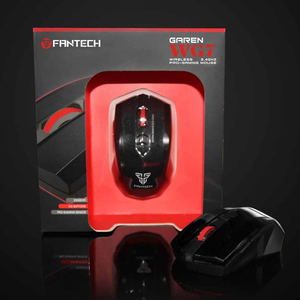 FANTECH WG7 2.4Ghz Draadloze Optische Muis 2000DPI 6 toetsen Gaming Muis Geschikt voor Games Kantoor
