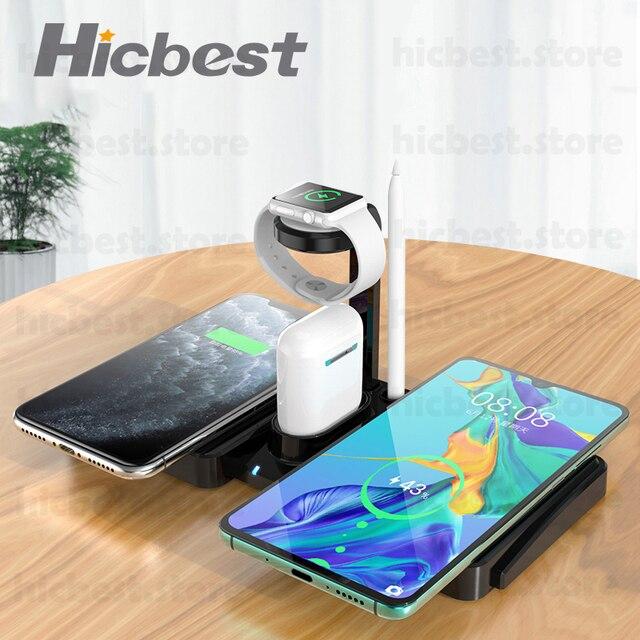 3 で 1 ワイヤレス充電ドックステーションiphone 11 airpodsプロワイヤレス充電充電器磁気appleの時計シリーズ 5 4 3 2