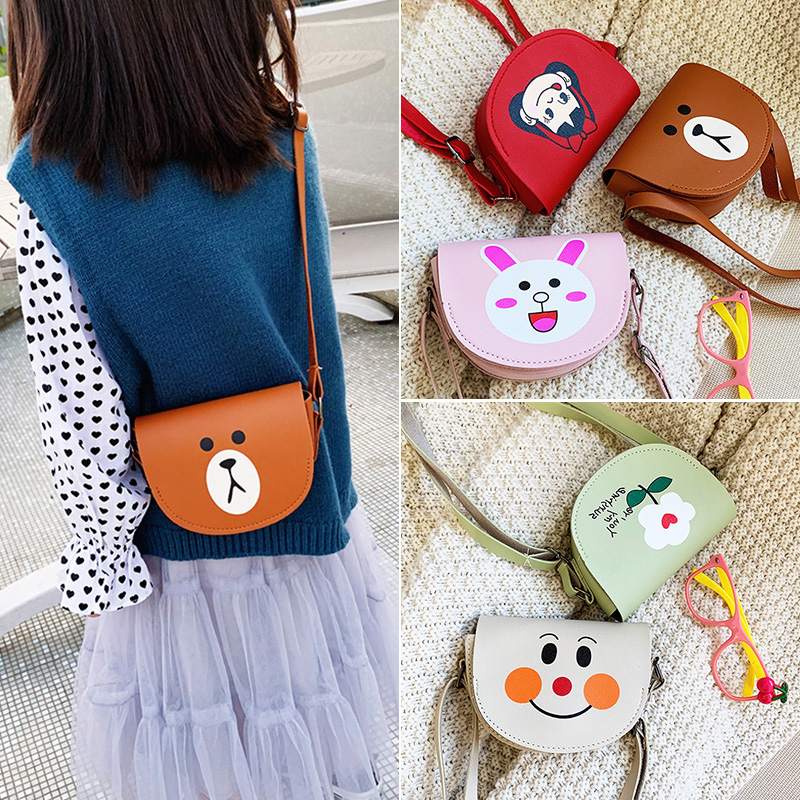 Girls Crossbody Bag Cute Shoulder Bags Women  Fashion Messager Bag Wallet Fruit Cartton Purse Zipper Pocket Bag For Girl Gift