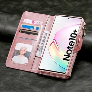 Image 3 - יוקרה עור רכב מגנטי Flip Case לסמסונג גלקסי S8 S9 S10 E S20 הערה 8 9 10 20 אולטרה בתוספת נשלף ארנק טלפון כיסוי
