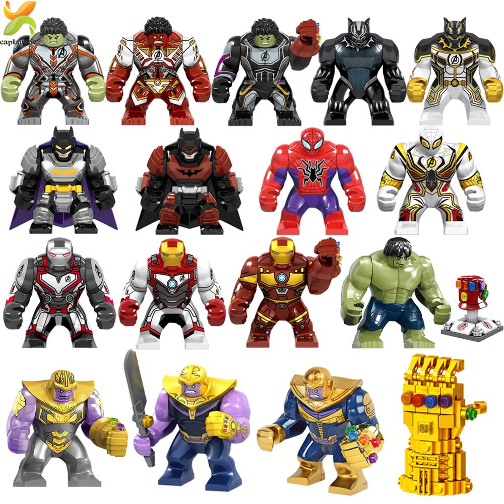 Marvel Avengers Endgame Super Heroes Infinity War Compatible Legoed Hulk Thanos Black Panther Figures Building Blocks Kids Toys
