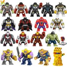 Marvel Avengers Endgame Super Heroes Infinity War Compatible Legoed Hulk Thanos Black Panther Figures Building Blocks Kids Toys(China)