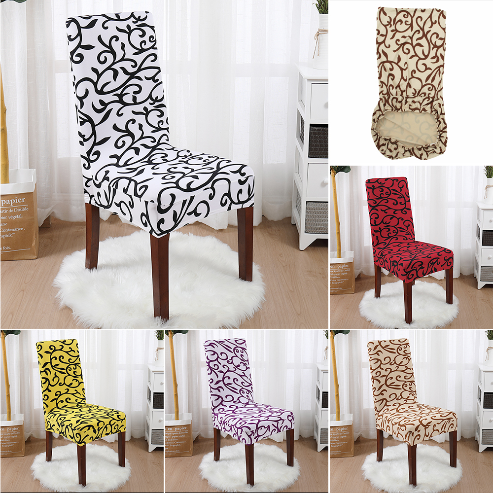 1/2/4pcs Spandex Elastic Printed Dining Chair Slipcover Modern Removable Anti-dirty Kitchen Seat Case Chair Covers For Banquet