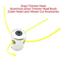 Алюминиевая Головка триммера для травы с 4 линиями, головка для кустореза, аксессуары для газонокосилки, режущая головка для стриммера, заме...