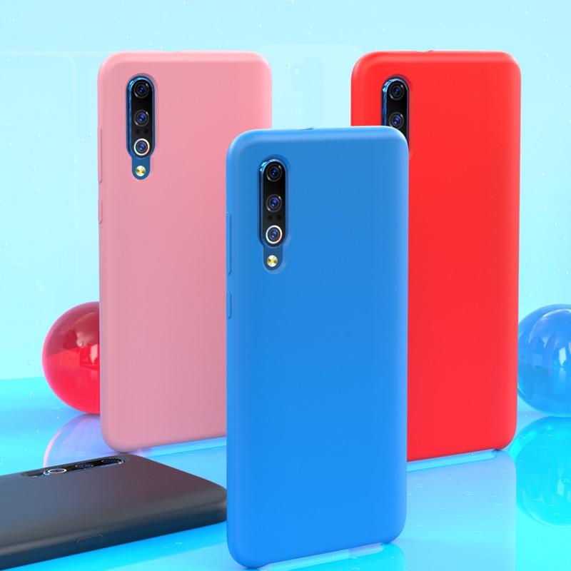 Xiaomi Mi 9 чехол официальный оригинальный многоцветный мягкий жидкий силиконовый чехол Xiaomi Mi 8 чехол Mi9 Mi8 протектор Противоударный задняя крыш...