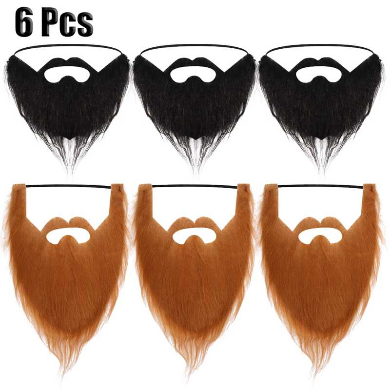 1PC Unisex Fancy Dress Fake Beard Halloween  Party Facial Hair Moustache Wig Funny Festival Christmas Supplies Prom Props