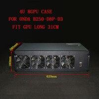 PC Server Fall USB Miner System BTC ETH XMR Bergbau Rig Chassis Für Onda AK2980 K15 K7 B250 D8P 55 motherboard Miner 8 GPU Rahmen