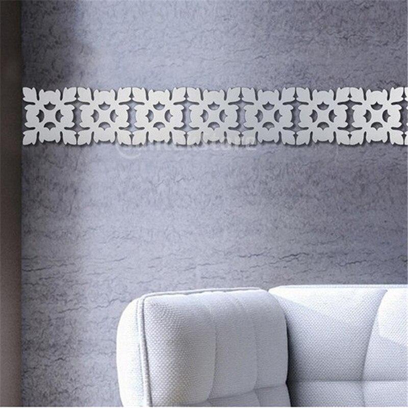 Настенный стикер домашний декор гостиная 3d современная зеркальная