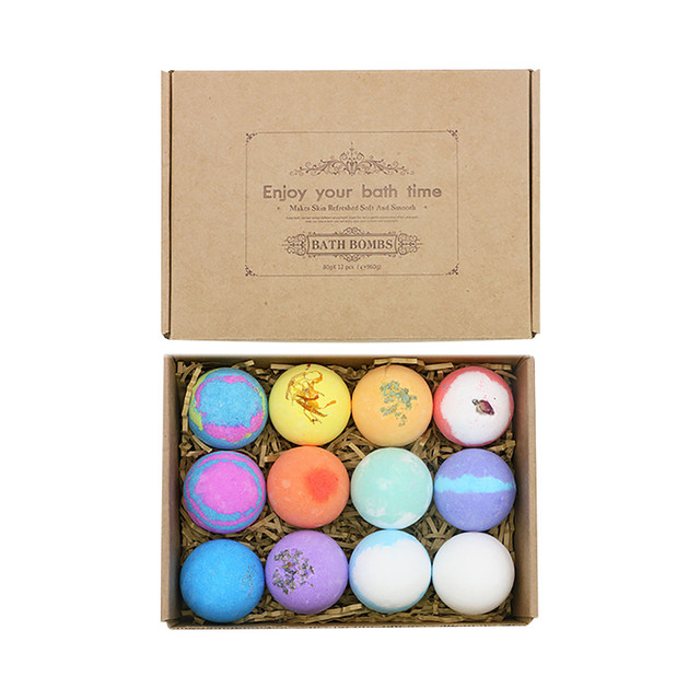 12PCS Bubble Bath Ball Shower Bomb Skin Essential Oil Moisturizing Exfoliating Moisturizing Skin Care Natural Bath Bomb 1