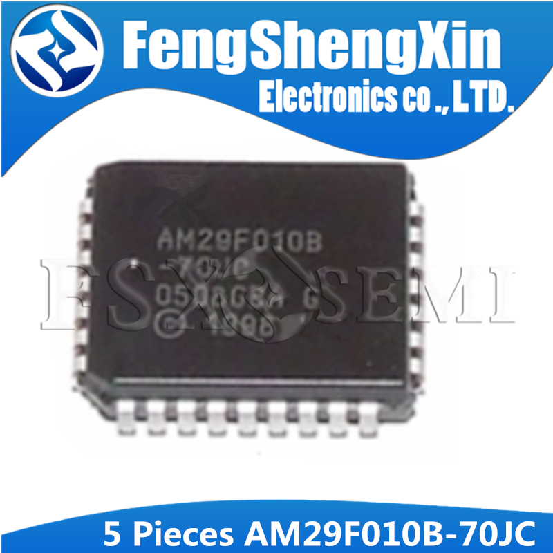 5PCS AM29F010B-70JC AM29F010B <font><b>AM29F010</b></font> 29F010 PLCC32 1 Megabit (128 K x 8-bit) CMOS 5.0 Volt-only, Uniform Sector Flash Memory image