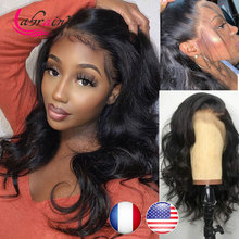 13X6 Body Wave HD Transparent Lace Frontal Human Hair Wig Baby Hair Glueless Pre Plucked Brazilian Lace Front Wig Natural Color