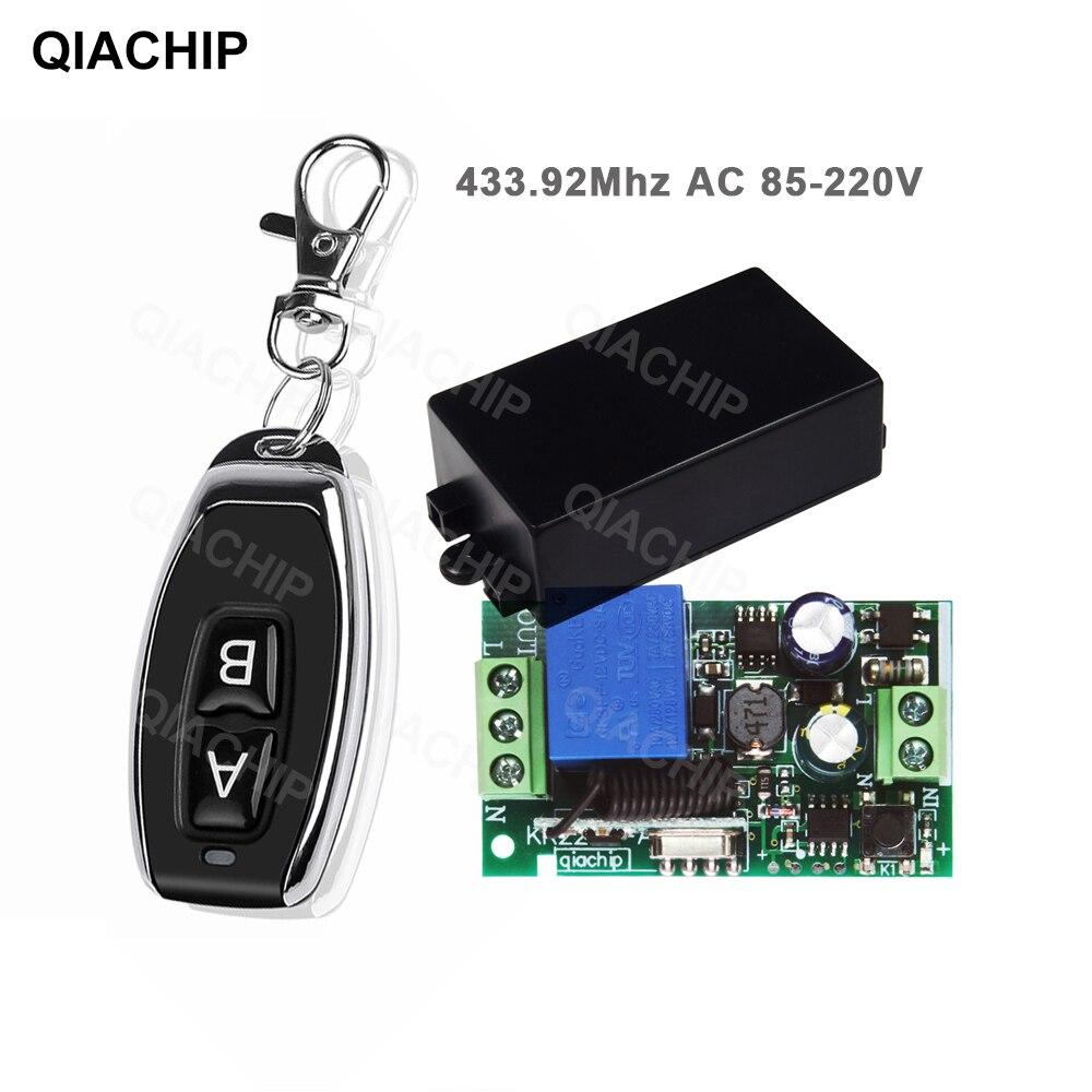 Радиочастотный передатчик QIACHIP, 433 МГц, с дистанционным управлением, с беспроводным переключателем дистанционного управления, 110 В переменн...
