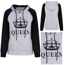 Fashion hot style KING QUEEN hoodies